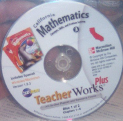 California Mathematics Teacher Works Plus Grade 3 (All-In-One Planner & Resource Center, Concepts, Skills, and Problem Solving, Includes Spanish)