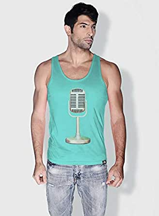 Creo Microphone Retro Tanks Tops For Men - M, Green