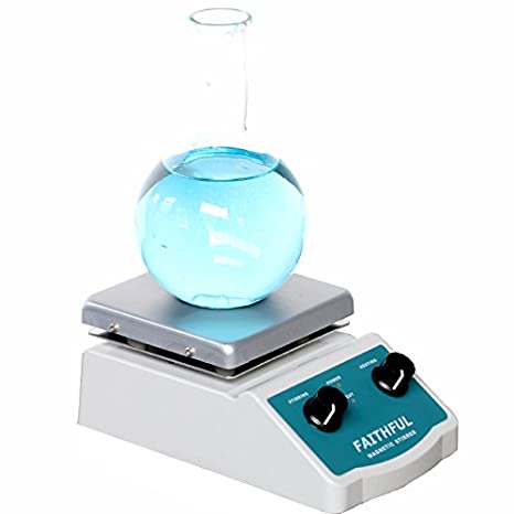 Laboratory Magnetic Stirrer Hot Plate Stir Plate, Magnetic Mixer Dual Controls for Heating and Stirring