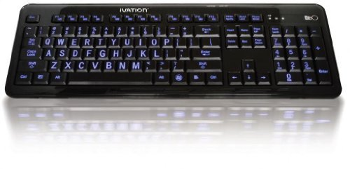Ivation Illuminated Multimedia Computer Keyboard