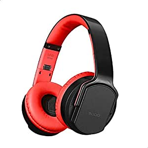 Sodo MH2 Bluetooth 4.2 Wireless Headphone Twist out Speaker 2 in 1 Support NFC, FM Radio, TF Card And Audio In - Black Red