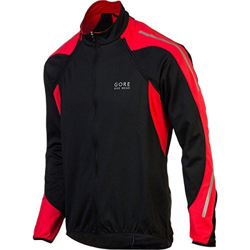 (Gore Bike WEAR Men´s Phantom Windstopper Soft Shell Jacket, JWPHAS, Black/Red, S)