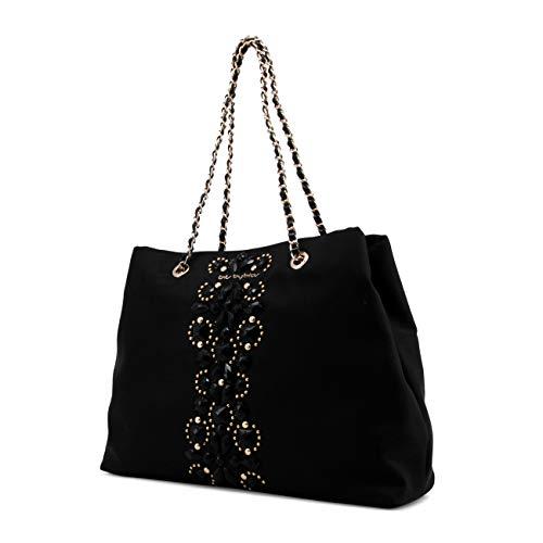 Rrp Women Bag Byblos Black Genuine Blu Designer Shoulder nO8qz0C5w5