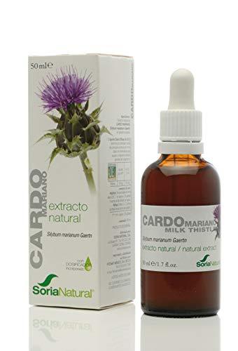 Soria Natural - EXTRACTO DE CARDO MARIANO - Suplemento nutricional - desintoxica y protege el higado, mejora la digestion y reduce el dolor estomacal (PACK1)