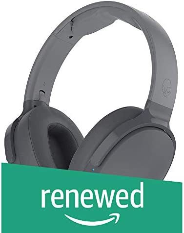 Skullcandy Hesh 3 Bluetooth Wireless Over-Ear Headphones with Microphone, Rapid Charge 22-Hour Battery, Foldable, Memory Foam Ear Cushions for Comfortable All-Day Fit, Gray (Renewed)