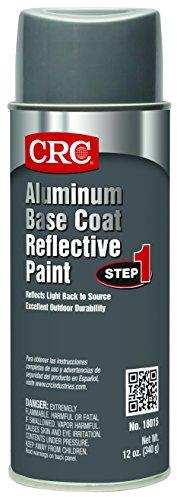 Aluminum Coat - CRC 18015 Reflective Paint, Base Coat, 12 WT oz, 16 fl. oz. Aerosol, Aluminum
