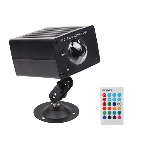 StarLight Water Ripple Effect Light Projector with 16 Colors, 3 Modes, 3 Speeds, & Remote Control(Black)