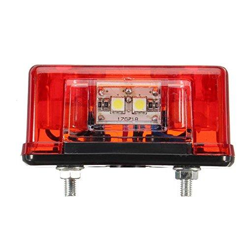 SODIAL 2 x 12V//24V LED Rear Targa auto leggero camion rimorchio camion universale