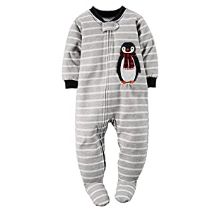 Carter's Big-boys' 1 Pc Micro Fleece Footed Blanket Sleeper Pajamas