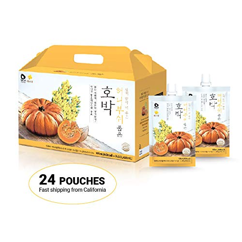Innerset Honeybush Pumpkin Nutricosmetic Beauty Drink - 100 ml x 24 pouches - Fermented Extract, Skincare Patented Formulation/Made in Korea/Ships from US