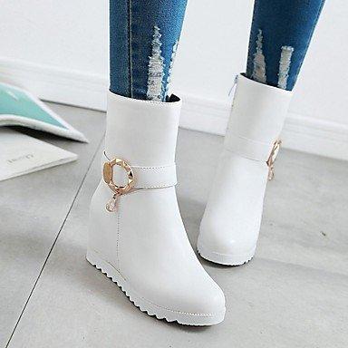 blanc casual de confortable pour femme Bottes nbsp; noir à 5 gris hiver cuir pois simili de sport chaussures printemps bottes DESY innovant ESqnxTEW