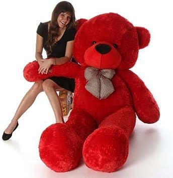 Zany Veu Stuffed Spongy Lovable/Huggable Teddy Bear with Neck Bow for Boy/Girl