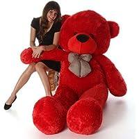 Sellebrations Premium Quality Huggable Teddy Bear with Neck Bow, Plush Stuffed (03 Feet) Red