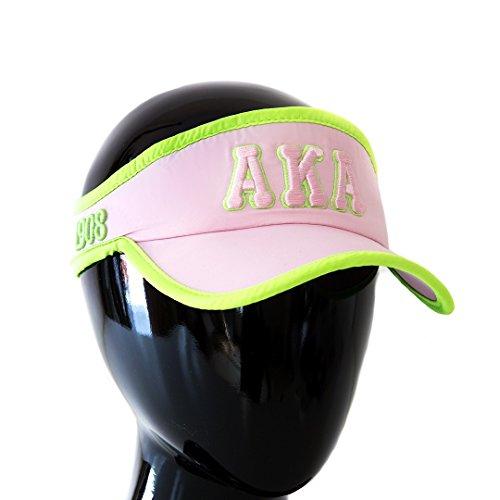 Alpha Embroidered Visor - Alpha Kappa Alpha Sorority Feather- light Visor Pink