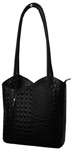 Crocodile Real Handbag Designer Einkaufszauber Leather Black Style nIq4n1O