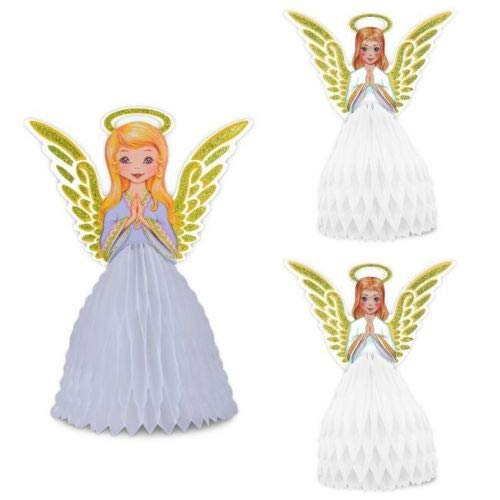 Beistle 22175 Vintage Christmas Angel Centerpiece Set, 11.5
