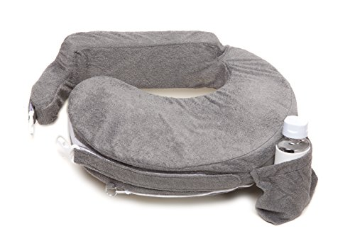 My Brest Friend Nursing Pillow Deluxe Slipcover - Machine Washable Breastfeeding Cushion Cover - Pillow not Included, Evening (Dark Grey) -