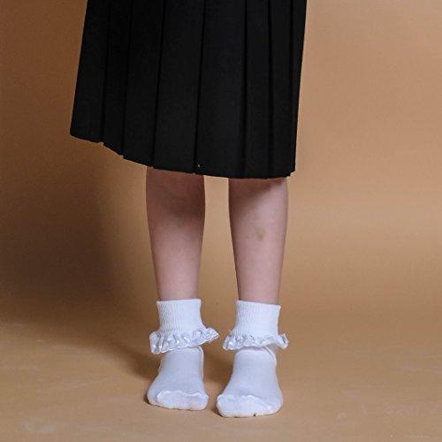 caviglia Girl 18 alla 16 con balza 0 pizzo di bianche Eu calze uk 3 in paia 2 5 Eesa taglie 5 Adam Flower nR1EXx