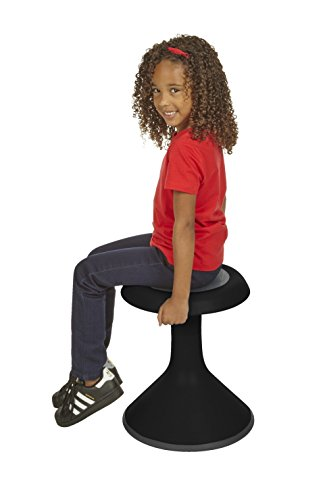 Classroom Select NeoRok Motion Stool, Active Wobble Seating, 15-1/2 inch Seat Height, Ebony by Classroom Select (Image #1)