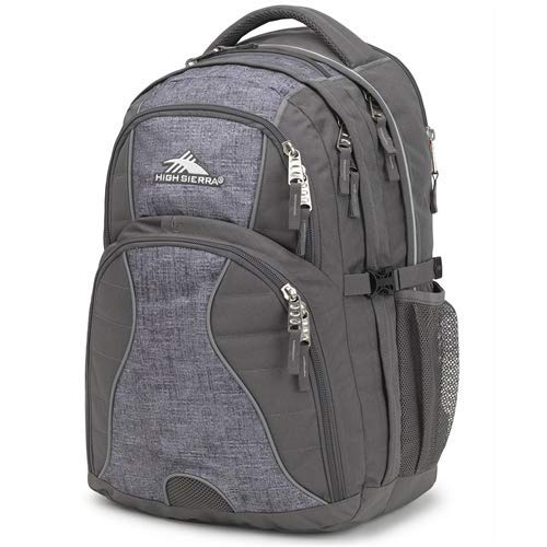 High Sierra Swerve Laptop Backpack, Slate/Woolly Weave