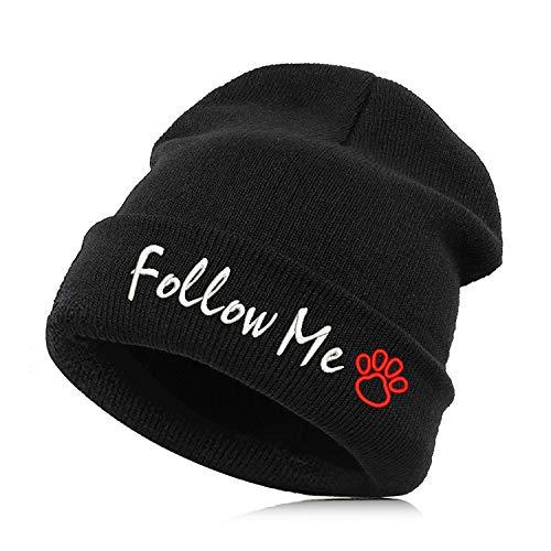Beanie Hat Skullie Cap Slouchy Winter Autumn Embroidery
