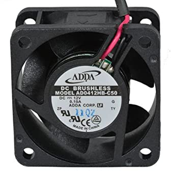 Adda AD0412HB-C50 8.8CFM 12VDC 40 mm L x 40 mm W x 20 mm H G 10 Leads Fan