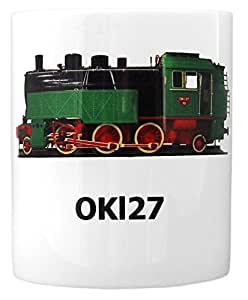 Railroad Coffee Mug Large With Classic Steam Engine Unique Gift For Men