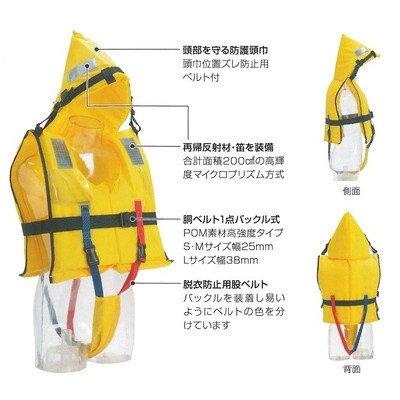 安全サイン8 水難防災個人用保護具 ライフジャケット 小学生用 収納袋付き FCT-M型   B075SR91JY