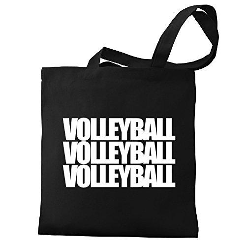Canvas words Eddany Tote Volleyball three Eddany Bag Volleyball qOXORI