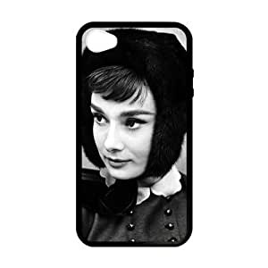 CASECOCO(TM) Audrey Hepburn Series Black Case&Cover for iPhone 4/4s