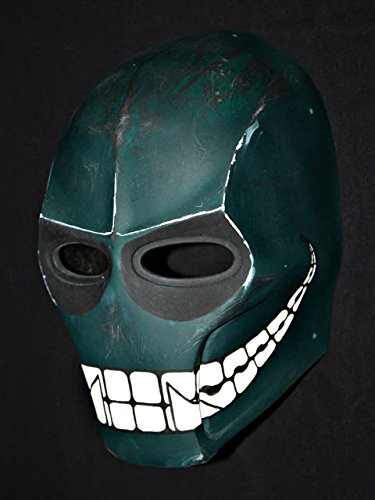 Custom Army of Two Halloween Costume Cosplay BB Gun Paintball Airsoft Mask Salem S2 Green Smiley MA100 -