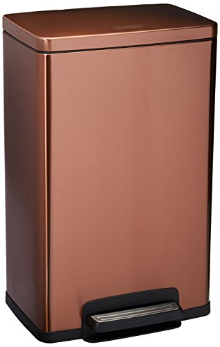 Rectangular Two Foot Pull Step (Tramontina Stainless Steel Rectangular Step Can Freshener System, Trash Can (Bronze, 13-Gallon))
