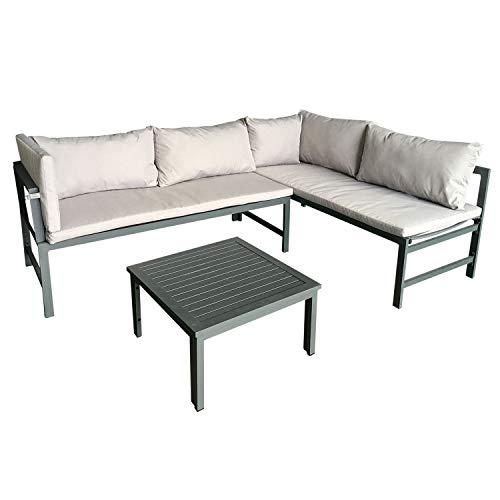 $90 off aluminum outdoor L-shaped sofa