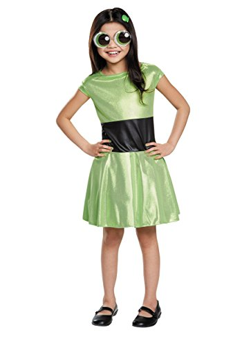 Buttercup Classic Powerpuff Girls Cartoon Network Costume, Medium/7-8 ()