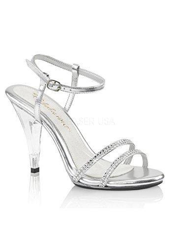 Favoloso Cinturino Sexy Alla Caviglia Con Cinturino Alla Caviglia Sandalo Caress-416 Argento