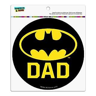 Graphics and More Batman Bat Dad Shield Logo Automotive Car Refrigerator Locker Vinyl Circle Magnet
