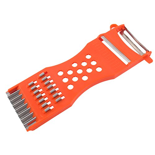 uxcell Kitchen Vegetable Fruit Grater Peeler Shredder Carving Tool 6.7'' Long