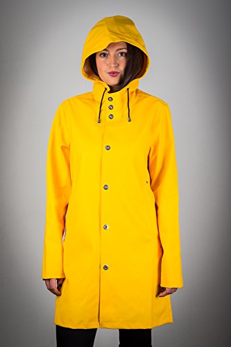Stylish Urban Fisherman Style Rainwear Coat - Size XL - Color Yellow