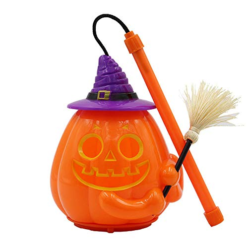 Transer- Pumpkin Lantern, Halloween LED Light Props Horror Hand Ghosts Laughter Lamp Battery Operated Home Decoration Ornamentation Gift Kids (Orange - B) ()