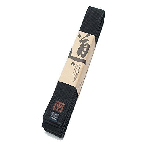 (Mooto Do Black Belt Fashion Washed Black Belt Martial Arts TaeKwonDo Hapkido Kendo Karate Judo Length: 94.5