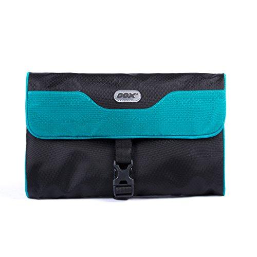 Appendere Beauty Case da Viaggio, GOX Premium Large 420D Nylon Impermeabile Portatile di Rotolamento tre Piegata Pieghevole Design di stile Borsa da Toilette / Kit da Toilette Bag / Organizzatore di Viaggi con Gancio (Small, Blu)