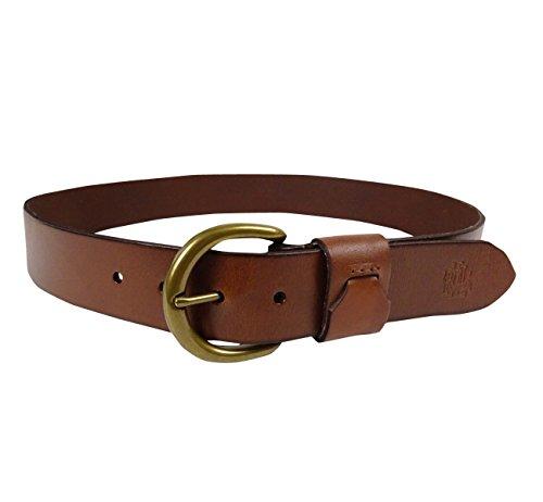 Leather Logo Buckle Belt (LAUREN Ralph Lauren Women's D-Buckle Logo Leather Belt Large)