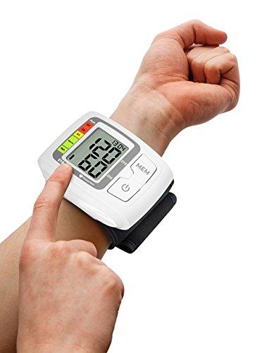 Homedics BPW-1005 Medidor de presión en la muñeca, medida de hipertensión, hipotensión y latido, indicador de latido cardíaco irregular (arritmia), ...