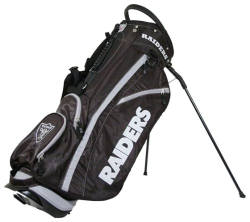 Team Golf NFL Oakland Raiders Fairway Golf Stand Bag, Lightweight, 14-way Top, Spring Action Stand, Insulated Cooler Pocket, Padded Strap, Umbrella Holder & Removable Rain Hood (Bag Golf Cart Raiders Oakland)