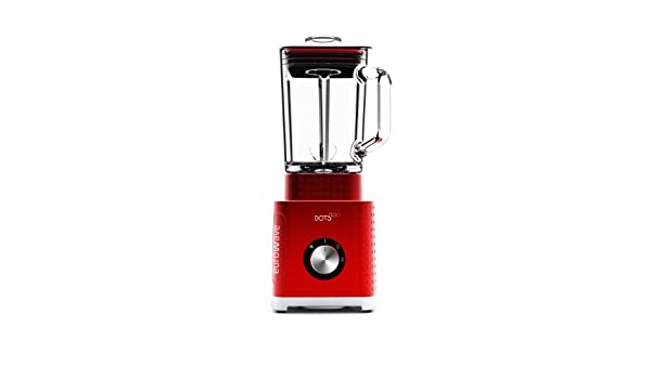 Eurowave Dots Collection - Batidora de vaso, 500 W, jarra de cristal 1,6 l, color rojo brillante: Amazon.es: Hogar