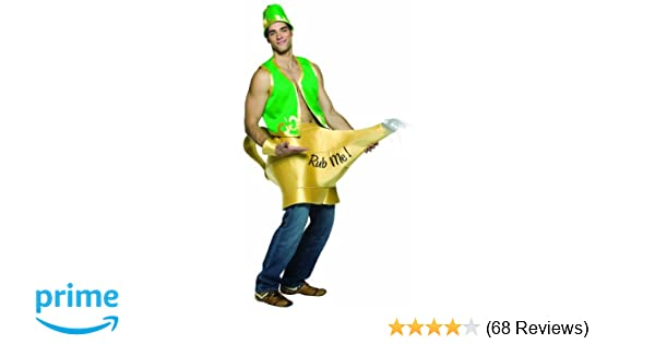 Genie In The Lamp Rub Me Adult Funny Men/'s Costume Halloween Rasta Imposta