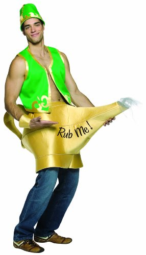 [Rasta Imposta Genie In The Lamp, Green, One Size] (Mens Costumes)