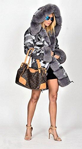 Roiii - Abrigo - Parka - para mujer gris