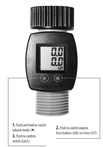 Electronic Water Flow Meter : Rainwave rw fm lcd digital water flow meter buy online