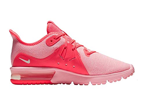 Nike Women's Air Max Sequent 3 Running Shoe (10 M US, Hot Punch/Summit White/Arctic Punch - Women Running Shoes Nike Pink